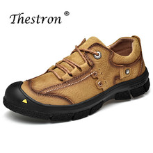Thestron Trekking Shoes Men Sport Sneakers Quality Hiking Outdoor Trainers Cow Leather Climbing Shoe