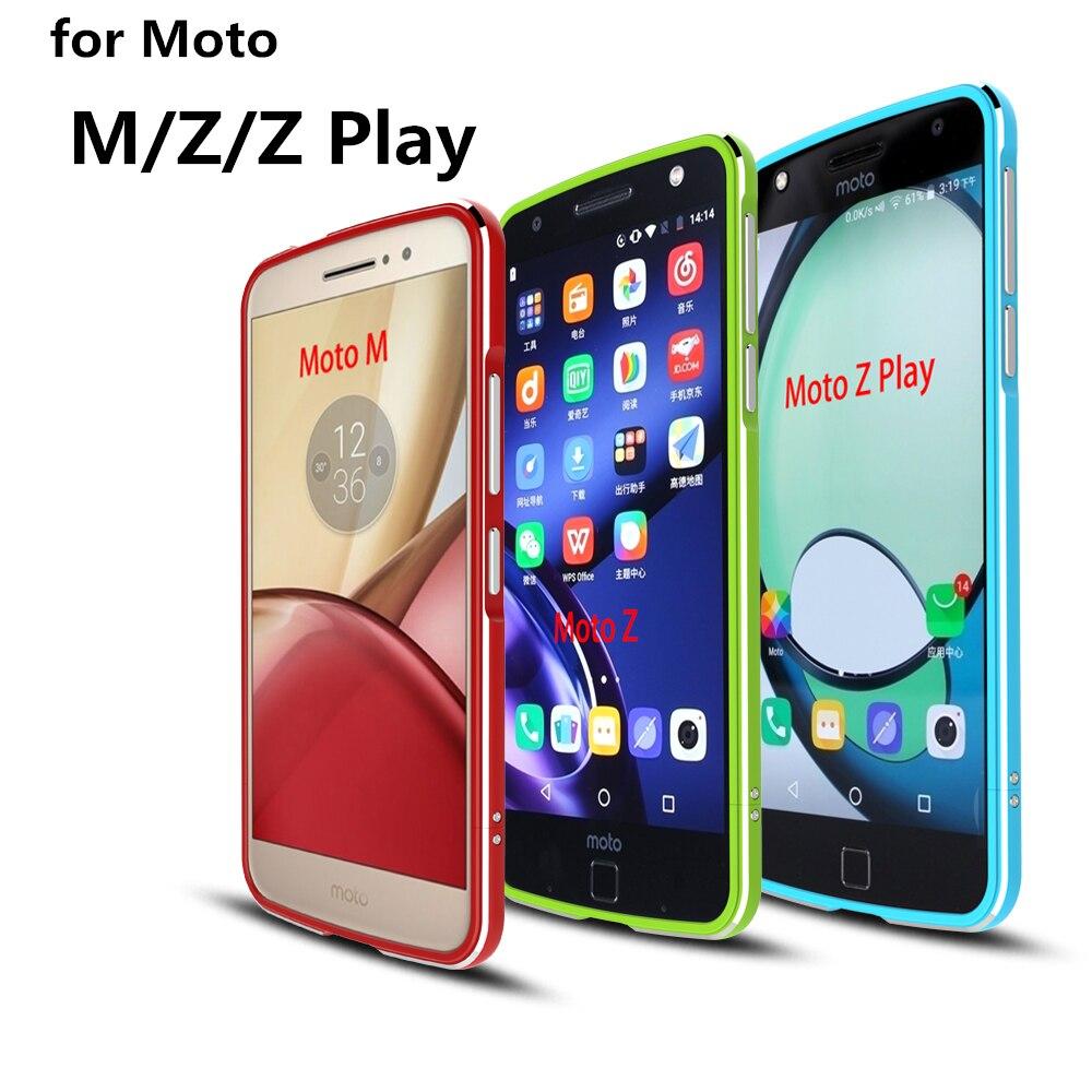 bilder für Fall Für Motorola Moto Z Luxus Deluxe Ultra Thin aluminium Bumper Für Motorola Moto Z Spielen, M, fall