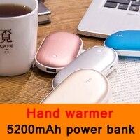 2017 New Style USB Hand Warmer 5200mAh Power Bank Dual Function Backup Battery Phone Charger Girl