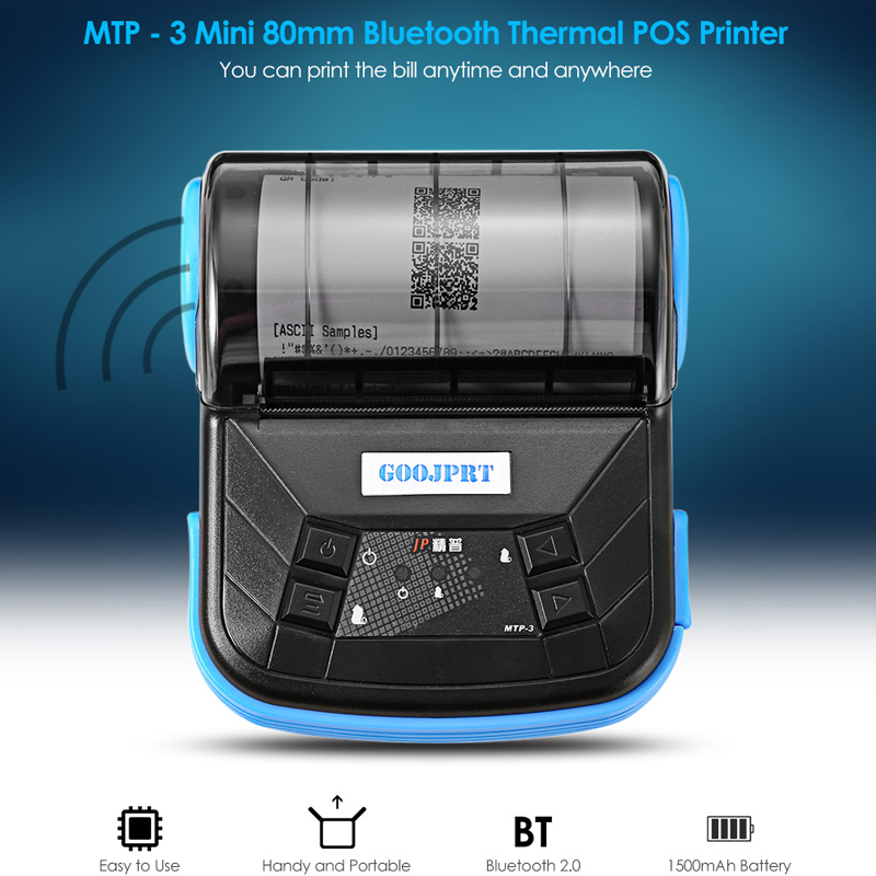 цены GZM8004 80mm Wireless printer Mini Portable POS Thermal Receipt Printer Bluetooth 4.0 Support Android or iOS both Systems