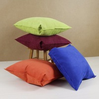 Suede pillowcase sofa car cushion cover solid color