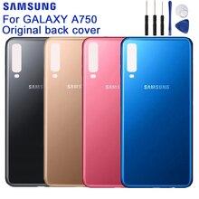 Оригинальный samsung черная крышка для корпуса Чехлы для samsung Galaxy A7 2018 версия SM-A730x A730x A750 телефон сзади Батарея двери инструменты
