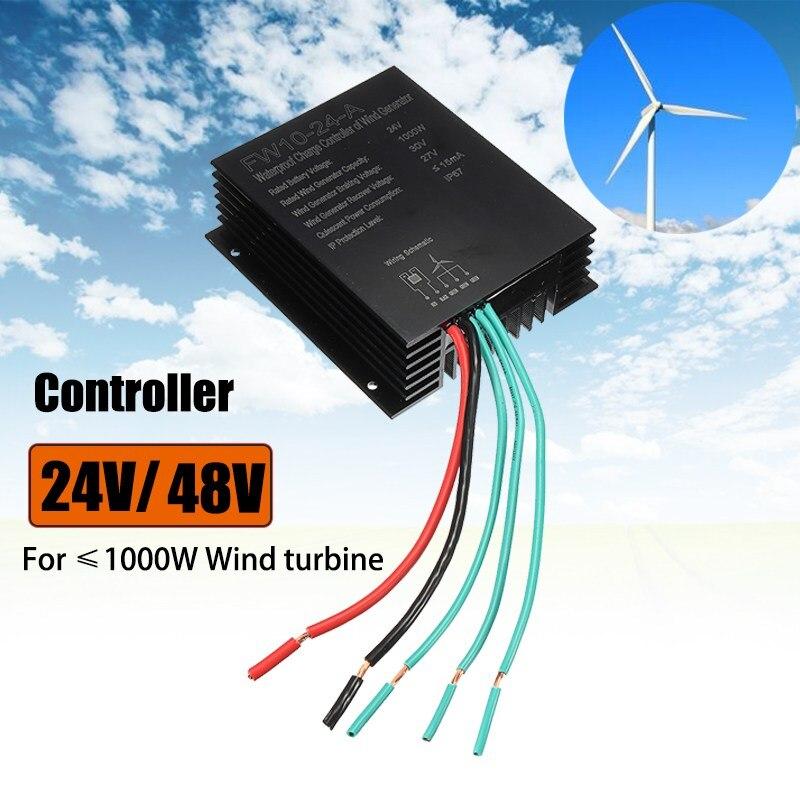 New 24V 48V Wind Turbine Generator Battery Charge Controller Wind Generator Controller IP67 For 1000W Wind