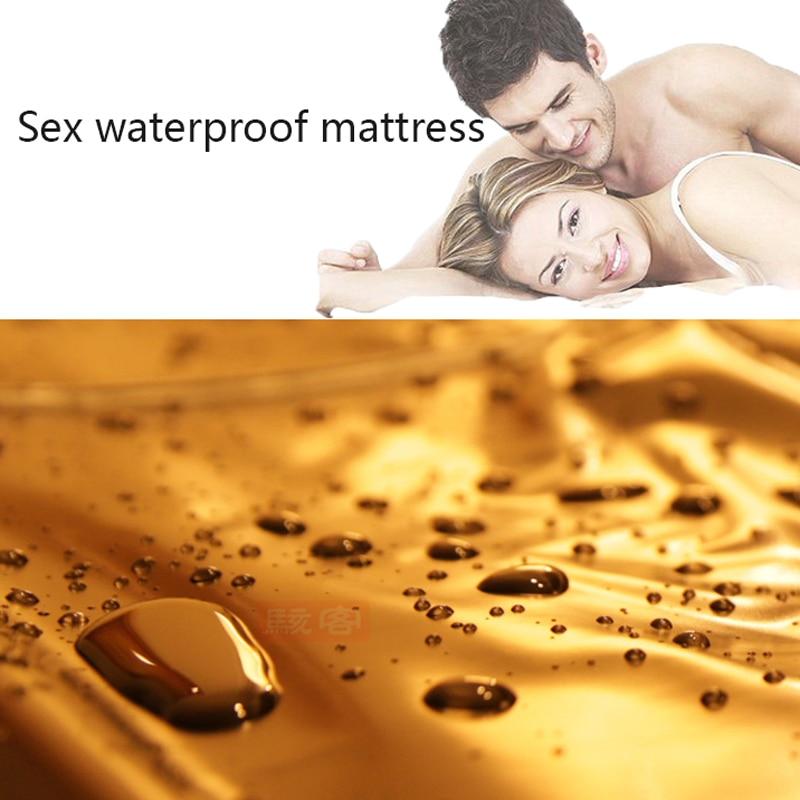 Ev ve Bahçe'ten Çarşaf'de Yeni Su Geçirmez Yetişkin Çarşaf Seks PVC Vinil Yatak Örtüsü Alerji Rölyef tahta kurusu Hipoalerjenik Seks Oyunu Yatak Çarşafları yatak title=