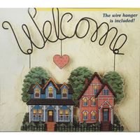 Home 2014 Decoration Landscape Welcome COUNTED CROSS STITCH BANNER KIT 14 Count Embroidery Sets Similar DMC