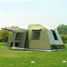 Di alta qualità di 10 Persone a doppio strato 2 camere 1 sala di grandi dimensioni allaperto festa di famiglia tenda da campeggio in buona qualità con grande spazio