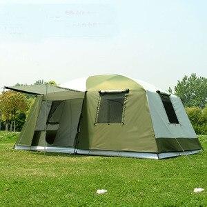 Image 1 - Hoge Kwaliteit 10 Personen Double Layer 2 Kamers 1 Hal Grote Outdoor Familie Party Camping Tent In Goede Kwaliteit Met grote Ruimte