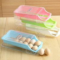 Kitchen Accessories Organizer Creative Refrigerator Drawer Type Egg Preservation Box Inclined Type Storage Box Plastic Container