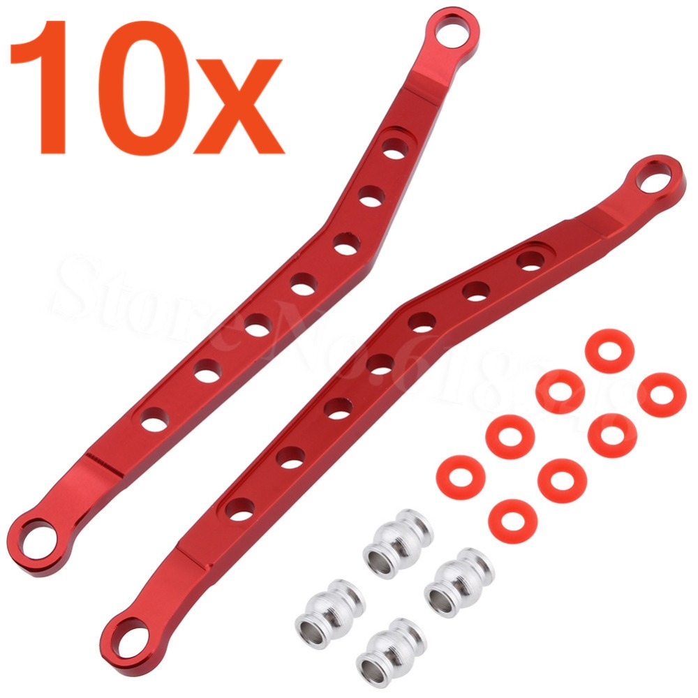 цена на 10 Sets Alloy F/R Upper Chassis Links AX80083 Upgrade Parts for 1/10 Buggy AXIAL AX90056 AX90048 AX90033 Wraith RTR RC Parts
