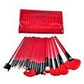 24 unids Pro de Cepillo Del Maquillaje Profesional Kit de Herramienta Del Maquillaje Comestic Pinceles de Maquillaje con el bolso de la caja de Color