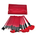 24pcs Pro Makeup Brush Set Professional Makeup Tool Kit Color Comestic Makeup Brushes with case bag