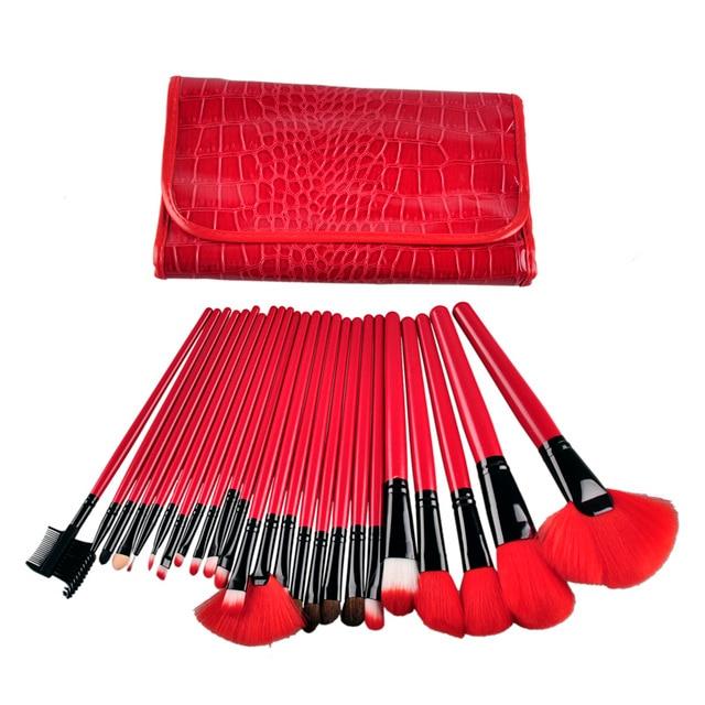 24pcs Pro Makeup Brush Set Professional Makeup Tool Kit Color Comestic Makeup Brushes with case bag