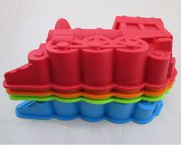 Free Shipping Baking Moulds Train Shape High Quality Silica