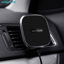NILLKIN Car QI Беспроводной Зарядное устройство Держатель Магнитный Air Vent площадку для Samsung S6 S7 край S8 note 8 для iphone 8 7 6 S плюс