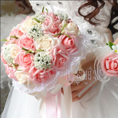 Beautiful Wedding Bouquet Flower bouquet for bride artificial flower ...