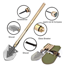 Multifunctional Camping Shovel Survival Tactical Military Snow Folding Pocket Knife Outdoor Garden Tools Pala Militar