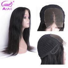 ARIEL Lace Front Human Hair Wigs Straight Peruvian Remy Hair Wigs For Black Women Lace Frontal Wig Natural Color 10-22 Inch(China)