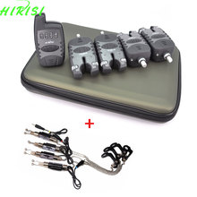 4+1 Carp fishing wireless bite alarm set with 4pcs fishing chain swingers fishing tackle