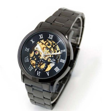 Automatic Classic Skeleton Men's Mechanical Stainless Steel Sport Wrist Watch Rosonse