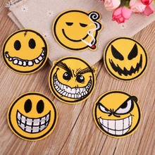 New 1PCS Mixed Emoji Iron on Embroidery Patches For Clothing Jeans Jacket Kids Stripes Stickers Clothes Decoration