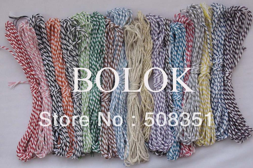 37 видов цветной хлопковый Бейкер twine10 ярдов/комплект(37 шт./партия) хлопковая веревка