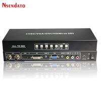 CVBS VGA, DVI, HDMI все, чтобы HD 3g SDI скейлер конвертер R/L AV Сингаль 3g SDI видео сплиттер Extender конвертер с Мощность адаптер