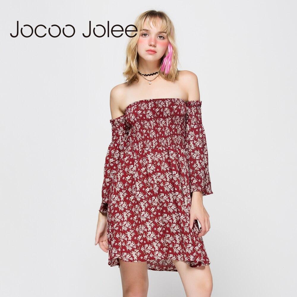 Jocoo Jolee Qadın Çiçəkli Çap Don Qollu Boyunbağı Qollu - Qadın geyimi - Fotoqrafiya 3