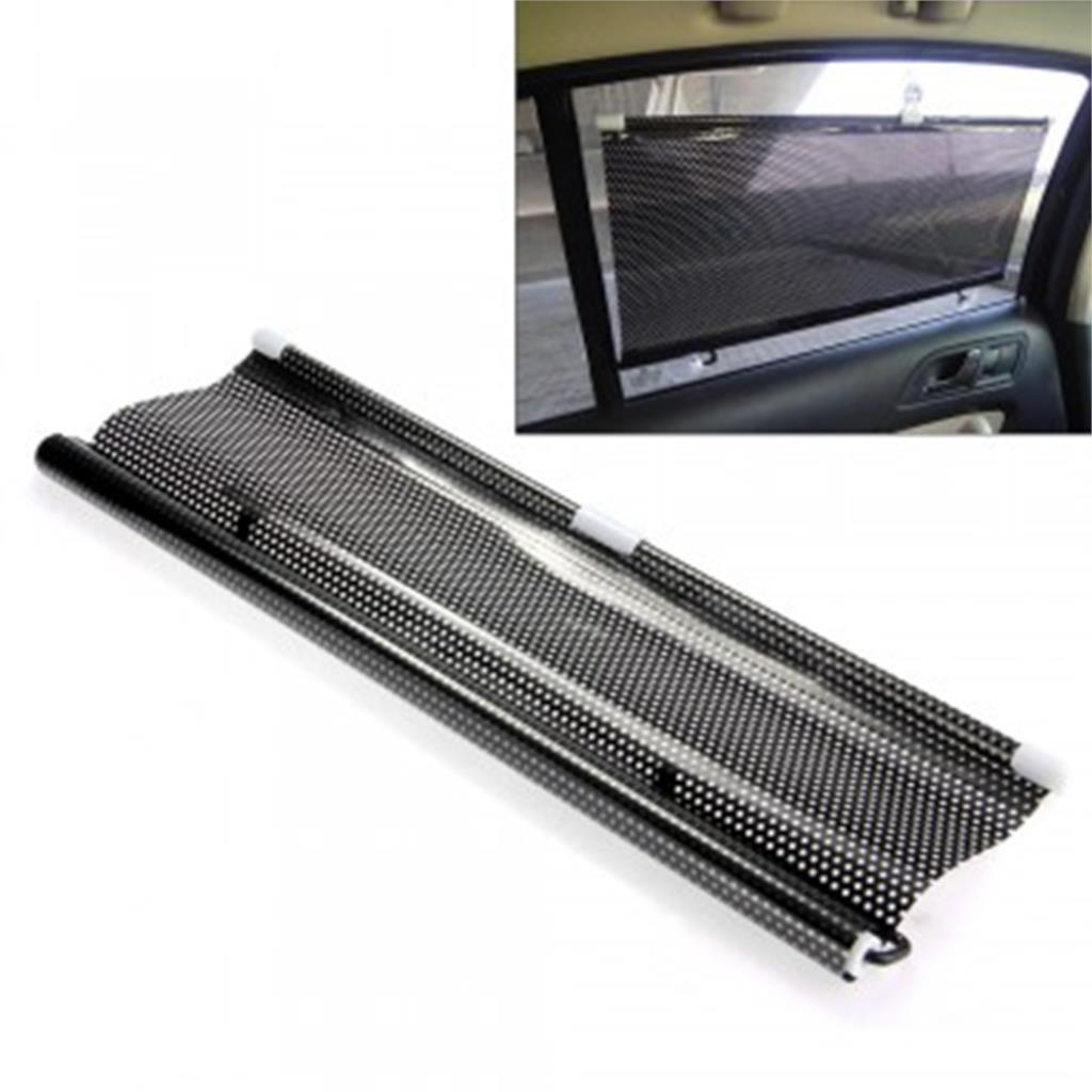 high qulaity 50x125cm Universal Car Window Retractable Sun Shade Sunshade Shield Visor Black