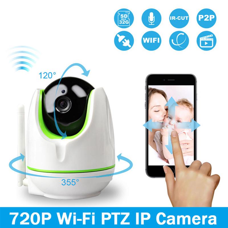 INQMEGA WiFi Wireless 720P WiFi IP Camera Two Way Audio Baby Monitor Pan Tilt Security Camera Easy QR CODE Scan Connect