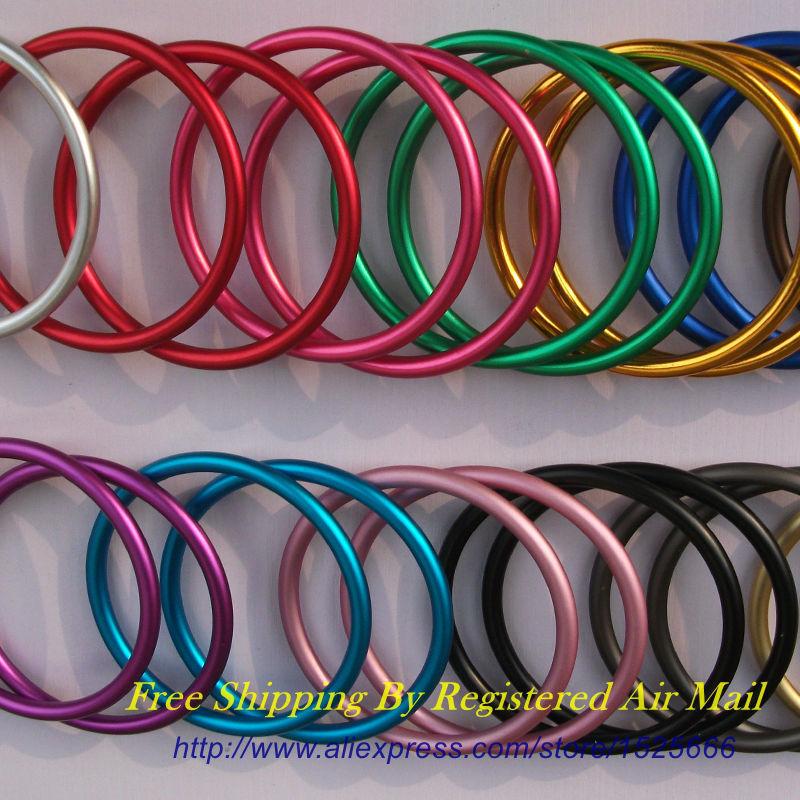 Free Shipping 20pcs 10pairs Large 3 Colored Aluminium Sling Rings