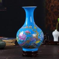 2019 New Vase Chinese Symbol Element vase Ceramic jar container color bottle decoration artificial flower