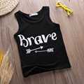 2016 New Fashion Casual Baby Girl T-shirts Black Cotton Sleeveless Tops Tee Kids Baby Girls tshirt baby summer Vest clothes F1