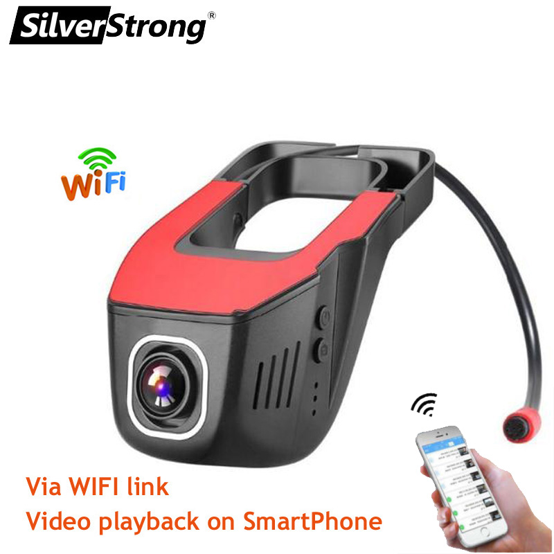 SilverStrong Car WIFI Camera Recorder WIFI DVR 1080P Novatek96658 Dual Lens Video recorder for IOS Android Device Car DVD B202