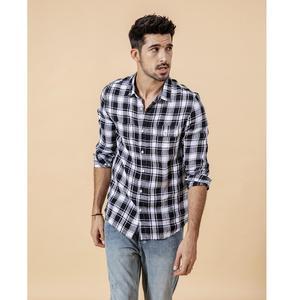 Image 1 - Мужская клетчатая рубашка из 100% льна SIMWOOD, повседневная модная крутая рубашка, брендовая одежда большого размера, новая модель 190203 на лето, 2019