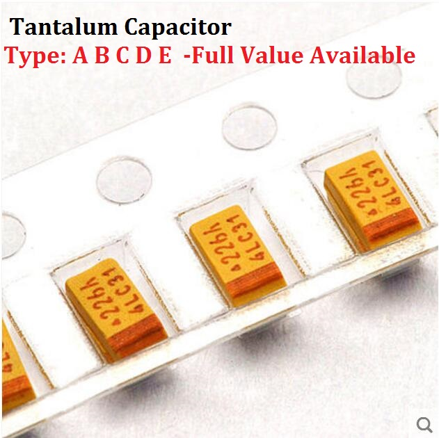 10 шт. тантала конденсатор Тип D 107 25 В 100 мкФ 25 В SMD емкость 25V100UF 7343 конденсаторы 100UF25V