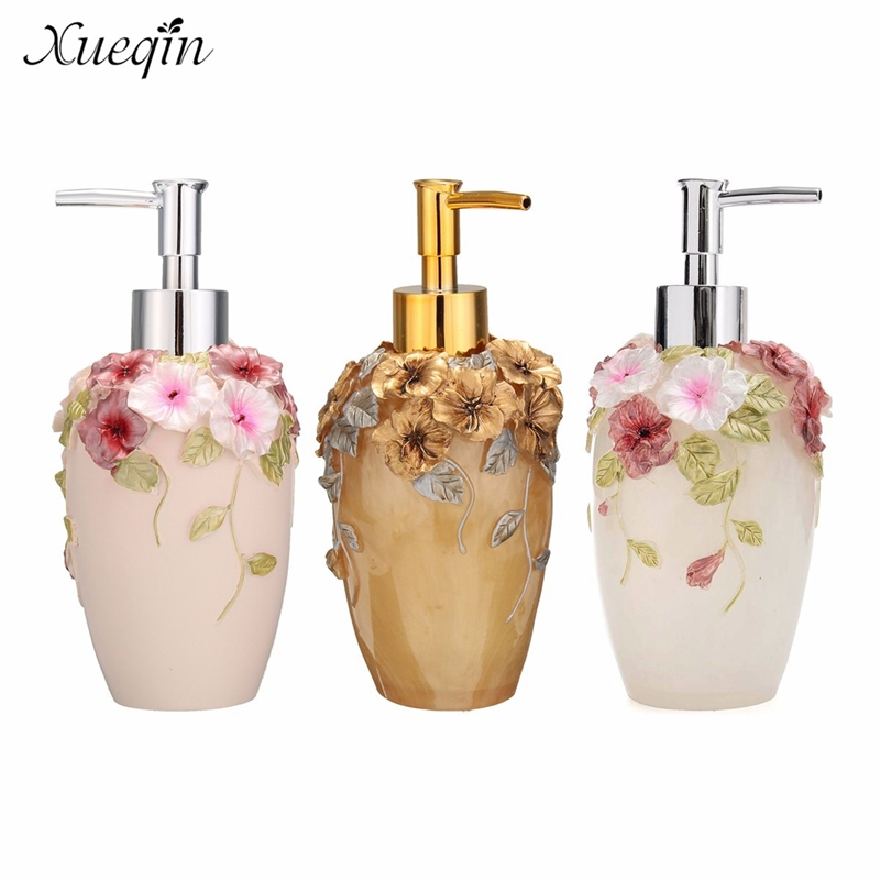 Xueqin 350ml Luxurious Liquid Soap Dispenser Pump Lotion Refillable Empty Bottle For Home Hotel Bathroom Kitchen Decor