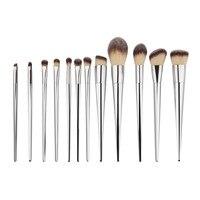 Brand 12PCS Set Powder Foundation Makeup Brushes Set Eye Shadow Eyebrow Blush Contour Lip Brushing Brushes