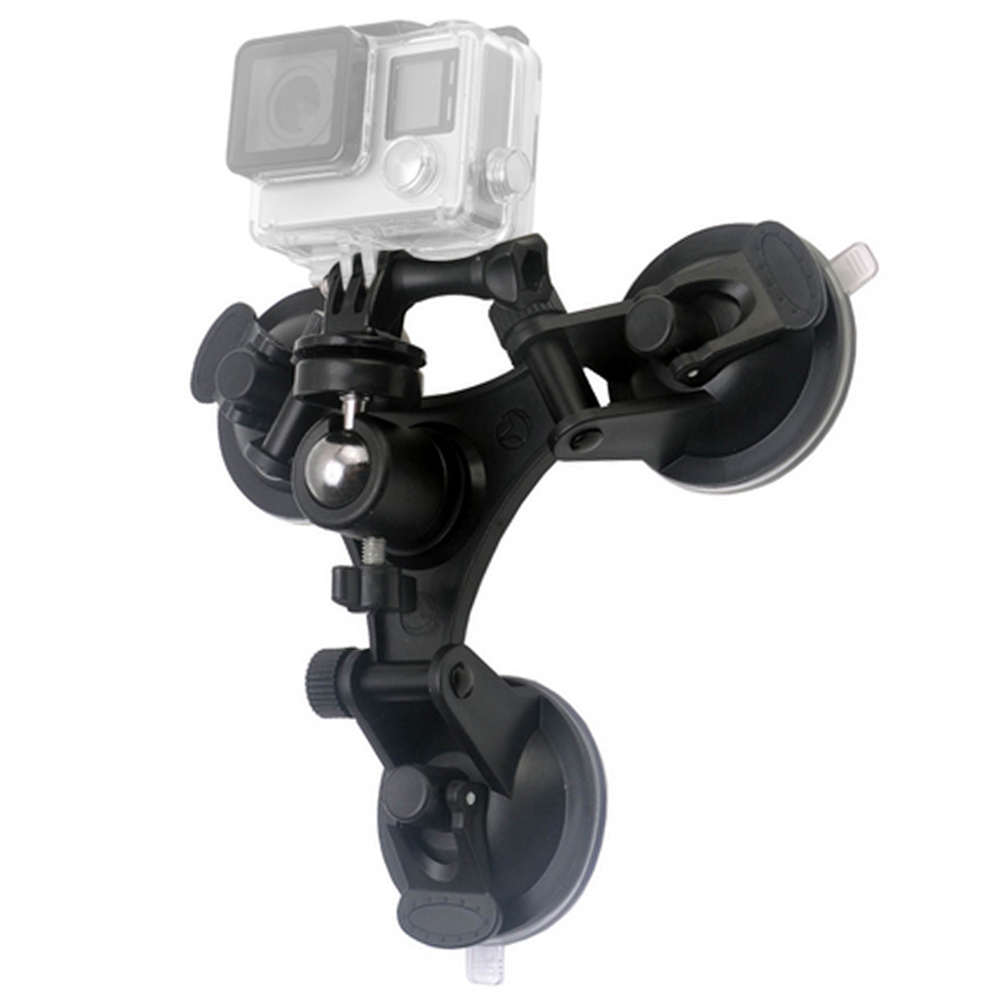 Low Angle Removable Suction Cup Tripod Mount for Gopro Hero 5 3 3+ 4 Session Xiami Yi 4K ...