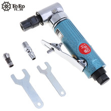 """TORO 1/4"""" 1/8"""" Collet Pneumatic Tools Engraving Polished Machine Grinder with 90 Degree Curved Head for Woodworking Car Mold"""