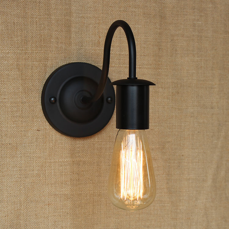 Retro wall lights loft american country vintage iron can be use retro wall lights loft american country vintage iron can be use edison light bulb wall lamps bedside reading lamp wwl018 in led indoor wall lamps from aloadofball Images
