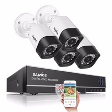 SANNCE 8CH 1080P HDMI DVR 720P 1280TVL High resolution CCTV system IR Outdoor Waterproof 8CH 720P Video Surveillance Kit