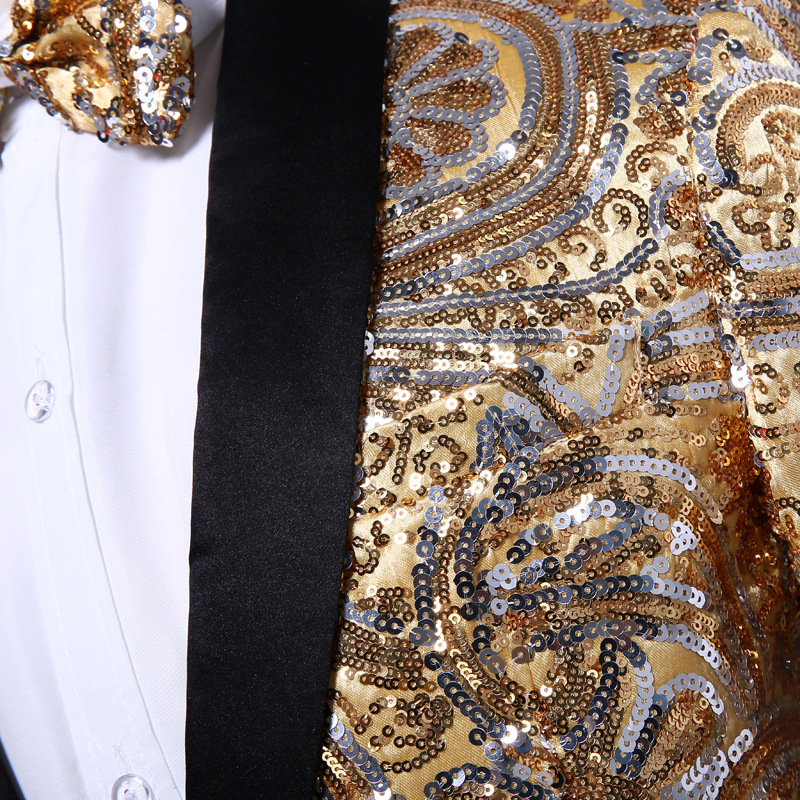 HTB1hOz9PFXXXXbkXpXXq6xXFXXXS - (Куртка + Брюки для девочек) розового золота Блёстки Мужская Мода с блестками свадебные жених Костюмы Для мужчин блесток блейзер для ночного клуба Бар DJ певица тонкий костюм