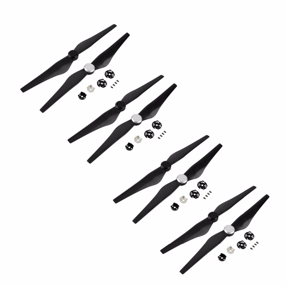 8pcs 1345 Carbon Fiber Propellers for DJI Inspire 1 Drone Durable Quick Release Props Replacement Blade With Mounts cw ccw
