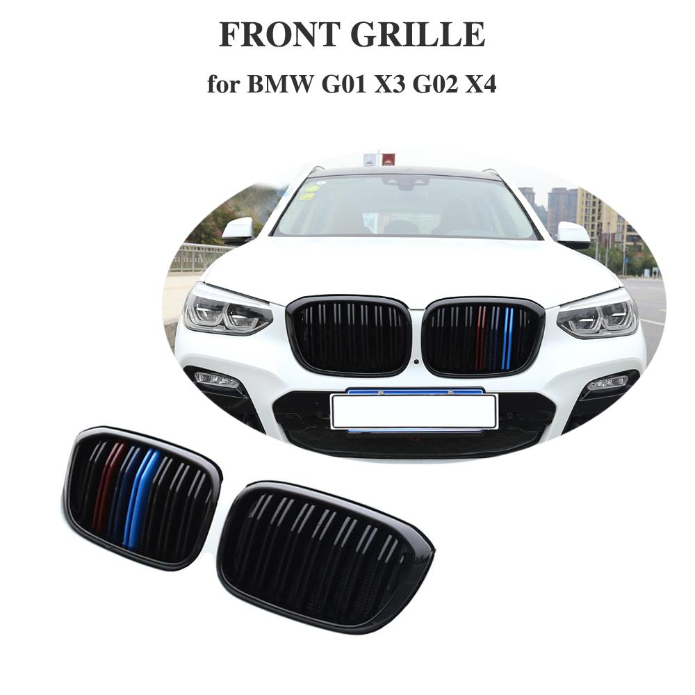 Auto Styling Front Kidney Grill For BMW X3 X4 BG01 G02 xDrive20i xDrive30i Gloss/Matt/M Black umper Racing Grille 2018+|Racing Grills| |  - title=
