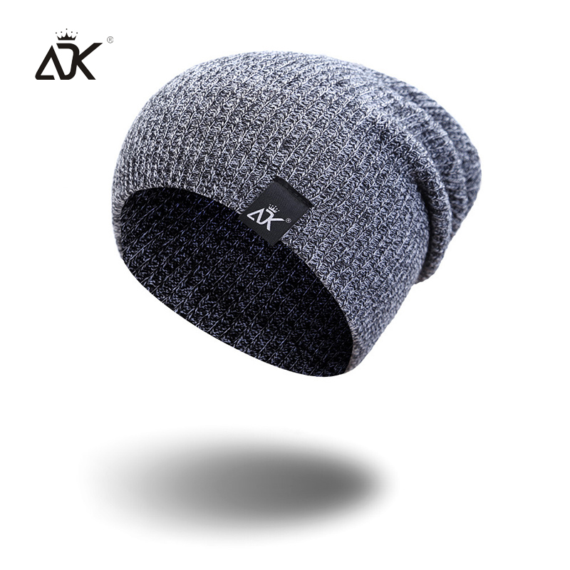 Mixed Color Baggy Beanies For Men Winter Cap Women's Outdoor Bonnet Skiing Hat Female Soft Acrylic Slouchy Knitted Hat For Boys 4