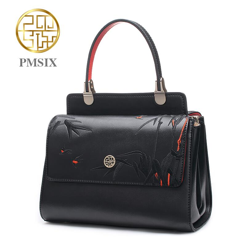 Pmsix2017 new high-quality luxury fashion leather handbag shoulder Messenger bag, women's well-known brand