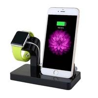 2 in 1 şarj Dock için şarj tutucu Apple iPhone 6 için/6 artı/6s/7 artı 8 telefon izle braketi Apple serisi için