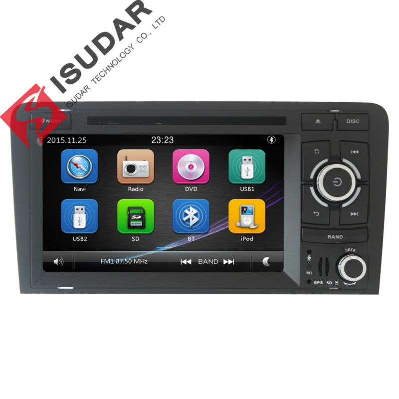 Two Din 7 Inch font b Car b font DVD Player For Audi A3 S3 2002