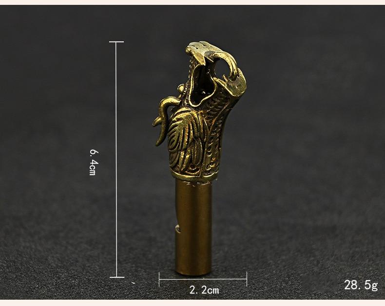 Whistle Key Chain Copper  (10)