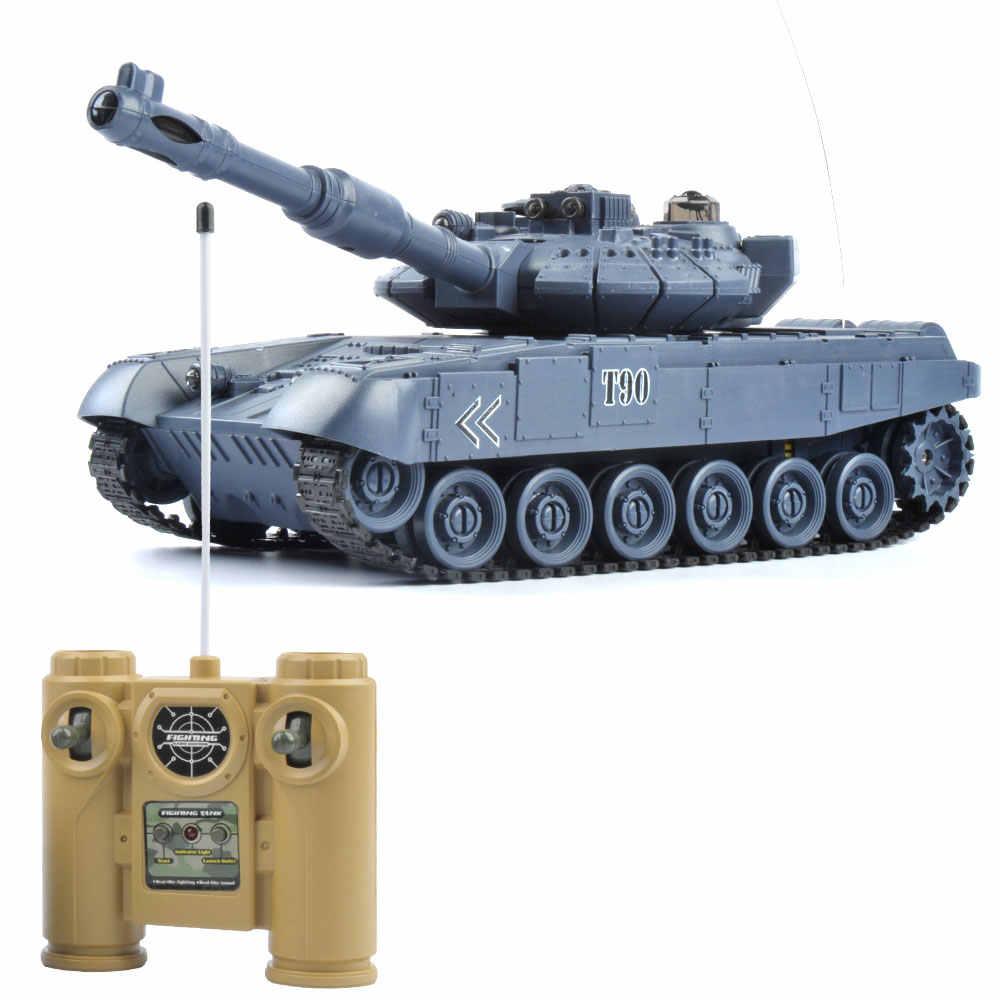 Р/У танки T90 Tanks 1:20 1/20 9CH 27 МГц инфракрасный на дистанционном управлении битва Тигр пушки дистанционного Управление игрушки-танки для Для маленьких мальчиков детская одежда